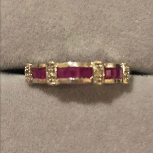 Jewelry - Ruby Sterling Silver Size 7 Ring